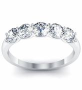Certified Diamond 5 Stone Band
