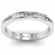 Channel Set Princess Cut Eternity Band 1.00 cttw