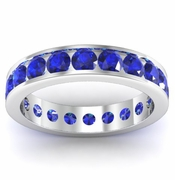 Channel Set Sapphire Eternity Ring