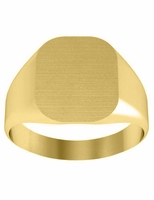 Chunky Yellow Gold Signet Rings Trendy
