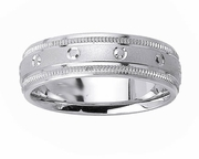 Circle Design Mens Platinum Ring