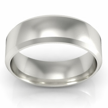 Classic Gold Bevel Band 5mm - click to enlarge