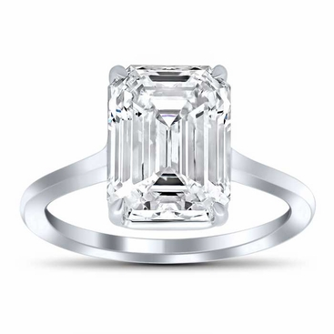 Classic Solitaire Engagement Ring - click to enlarge