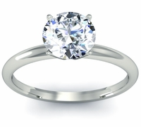 Classic Solitaire Ring 2.5mm
