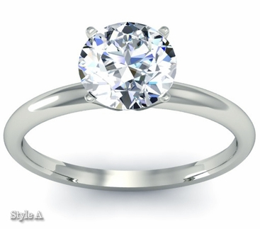 Classic Solitaire Ring 2.5mm - click to enlarge