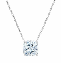 Cushion Cut Forever One Moissanite Women's Pendant