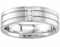 Designer Men's Palladium Wedding Ring Diamonds