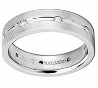 Designer Palladium Men's Ring 7mm Diamonds