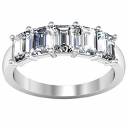 Diamond 5 Stone Ring in Emerald Cut