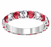 Diamond and Ruby U-Pave Eternity Ring