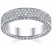 Diamond Eternity Bands 5 Row Pave Diamonds