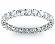 Diamond Eternity Band in U-Shaped Setting