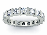 Diamond Eternity Ring Bar Setting