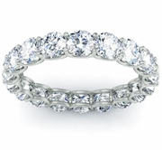 Diamond Eternity Ring in U Prong Setting