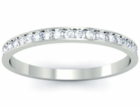 Diamond Eternity Wedding Band Single Row Pave
