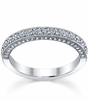 Diamond Half Eternity Micro Pave with Milgrain