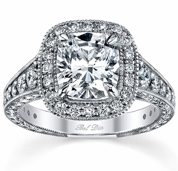 Diamond Halo Engagement Ring 1.25cttw - click to enlarge
