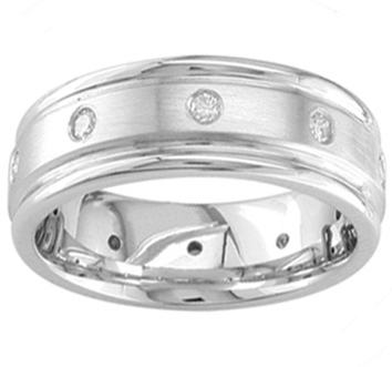 Diamond Mens Wedding Band Ring 0.32cttw
