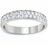 Diamond Pave Wedding Band