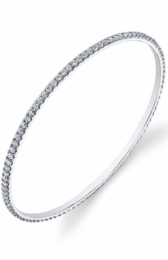 Stackable Diamond Bangle Bracelet - click to enlarge