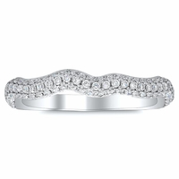 Diamond Twist Shank Pave Band