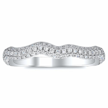 Diamond Twist Shank Pave Band - click to enlarge