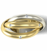 Diamond Two Tone Rolling Ring