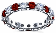 Diamonds and Rubies Eternity Ring 3.00cttw