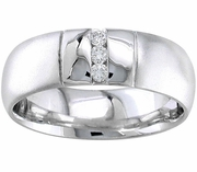 Domed Mens Diamond Ring