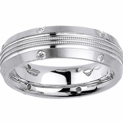 Domed Mens Diamond Wedding Ring (0.24cttw)