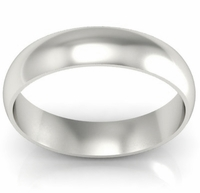 Domed Palladium Wedding Band in 5 mm