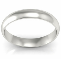 Domed Palladium Wedding Ring in 4 mm