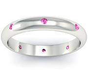 Domed Pink Sapphire Landmark Eternity Ring
