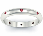 Domed Ruby Landmark Eternity Ring