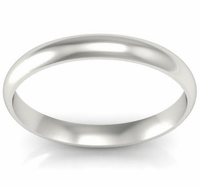 Domed Wedding Band in 14k 3mm