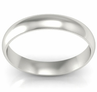 Domed Wedding Band in 14k 4mm