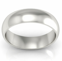 Domed Wedding Band in 14k 6mm