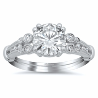 Double Shank Vintage Style Engagement Ring
