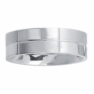 Dual Finish Mens Wedding Ring in 7mm