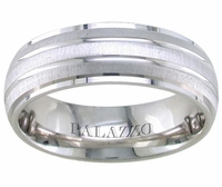 Dual Finish Palladium Dome Ring