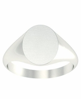 Engraved Signet Ring Your Initials
