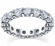 Eternity Band Round Diamonds with Shared Prongs