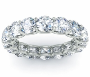 Eternity Band in 4.50cttw Round Diamonds U Setting