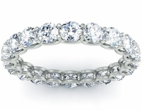 Eternity Ring with Round Diamonds in U Prong Setting