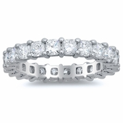 Eternity Wedding Ring with Cushion Cut Diamonds