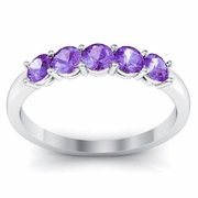 February Birth Stone Ring Amethyst 0.50 cttw