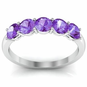 February Birthstone Ring AAA Quality Amethyst