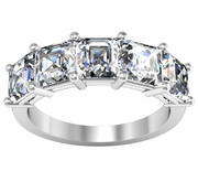 Five Asscher Diamond Ring