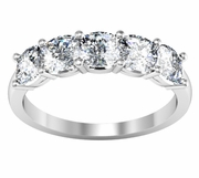 Five Stone Cushion Diamond Ring