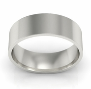 Flat Ring in Platinum for Women 6mm